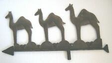 IRON THREE CAMELS WEATHER VANE / WEATHERVANE . RIVETED AND EMBOSSED