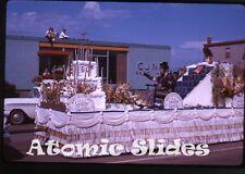 1963 Kodachrome photo slide Parade Saskatchewan Canada #2 CJNB
