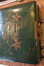"Rare Victorian Photo Album 1O.5"" X 8.5"" 14 Pages 28 Vintage Pictures"