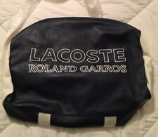 LACOSTE Roland Garros Roll Bag Paris Special Edition RARE NEW w/tags + Dust Bag