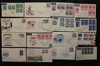 Australia 1953/5 Collection of QEII FDC's with various town cancellations Stamps