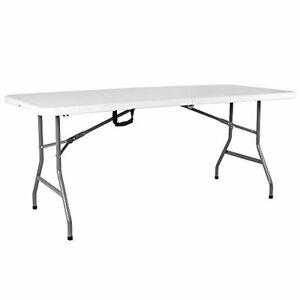 Folding Table Heavy Duty Extra Strength Camping Buffet Wedding Market Garden