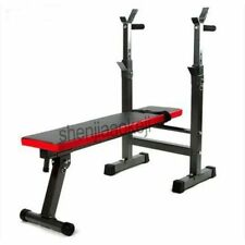 Multifunctional Weight Bench Press Barbell Rack Workout Fitness Equipment Gym