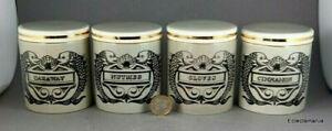 4 x Portmeirion DOLPHIN Spice Jars - Susan Williams-Ellis Design