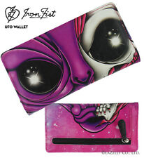 Iron Fist Pink/Multi Colour UFO Medium Wallet/Purse (Goth,Punk,Zombie)