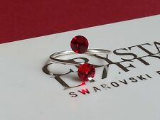 made with Swarovski Crystal Elements Adjustable Siam Red Sp Toe/Knuckle Ring