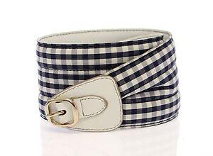 NEW $360 DOLCE & GABBANA D&G Blue Cotton Leather Logo Waist Belt s.70cm/28 inch