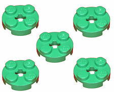 Missing Lego Brick 4032 Green x 5 Plate 2 x 2 Round