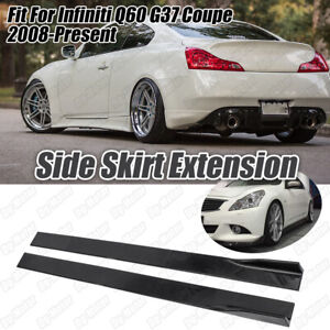 Winglet Side Skirt Extension Splitter Fit For Infiniti Q60 G37 Coupe 2008-2020