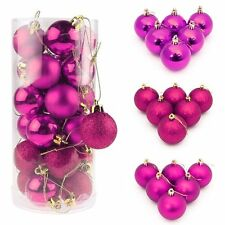 30/40/60/80MM Christmas Xmas Tree Ball Bauble Hanging Party Ornament Decoration