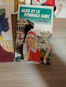 Alice et le symbole grec de Caroline Quine   Livre   état bon