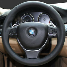 Genuine Leather Steering Wheel Cover Wrap for BMW 5 6 Series 550i 535i 5GT 11-16