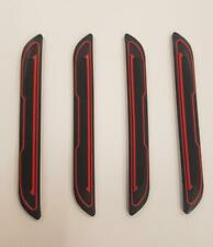 4 x Black Rubber Door Boot Guard Protectors RED Insert (DG5) fits MAZDA
