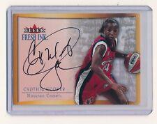 CYNTHIA COOPER 2000 ULTRA WNBA FRESH INK #3 AUTO *HOUSTON COMETS*