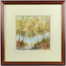 Framed Signed Original Modern Summer Landscape Watercolour Painting Robinson