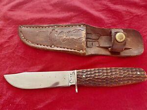 Vintage CASE Tested XX 3 Finn Fixed blade Knife,5 Dot