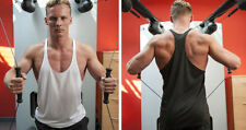 Y Neck Loose Fit Sleeveless T-Shirts for Men
