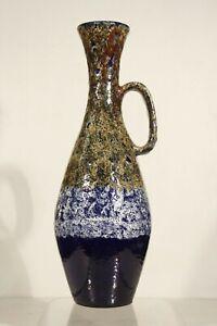 Rare grand vase à anse par Auguste Lucchesi dit Luc - Vallauris circa 1960