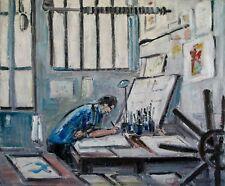 Robert SAVARY - Peinture originale - Huile sur toile - L'atelier de l'artiste