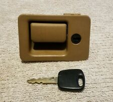 1994-1998 Ford Mustang Locking Glove Box Department Latch OEM Brown with Key