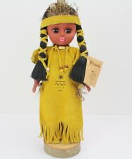 Indian Girl Native American Doll Figure, Picard Huron Art Inc, 1ft Tall, Canada