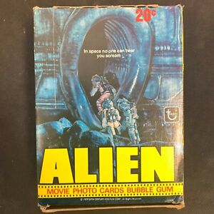 Topps 1979 Wax Pack Alien Trading Card Box with Untouched Packs