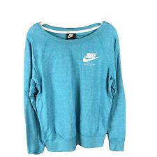 Nike Womens Size M Green Lightweight Long Sleeve Top Short NWT Organic Cotton