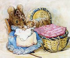 Beatrix Potter Mouse and Baby Fabric Block Nursery Bassinette