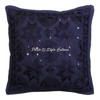 India Decorative Cotton Pillow Case Cover Hand Embroidered Cushion Cover Throw