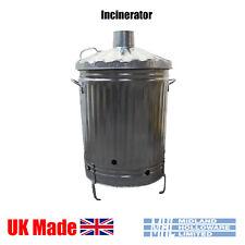 Garden Incinerator Bin Galvanised Burner for leaves rubbish etc Uk Made Quality!