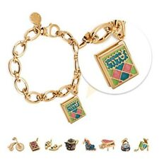 Jewish Charm Bracelet 14k Gold Plated, for Women Teens and Girls SSC-Bracelets