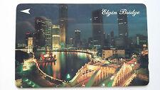 SINGAPORE PHONE CARD FAMOUS LOCAL LANDMARK ELGIN BRIDGE