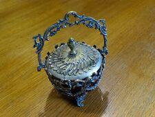 Ancien Sucrier Confiturier en métal argenté