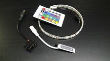 RGB LED strip 15 inch Self-adhesive for PC Computer case with remote control 12v