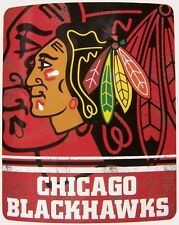 "Blanket Fleece Throw NHL Chicago Blackhawks NEW 50""x60"" with protective sleeve"