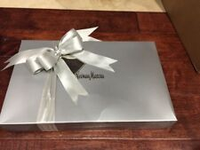 """Collectible Neiman Marcus Silver Gift Tag """"Given With Joy"""" Shirt Box & Tissue"""