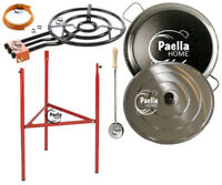 70cm Original Paella Pan Set + 60cm Gas Burner + Lid + Stainless Steel Spoon