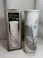 """Vintage NIB Baker Hart Stuart Porcelain Bud Vase 8"""" High NWT. Made Japan."""