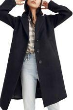 NWOT Madewell Bergen Cocoon Coat Black  L $298