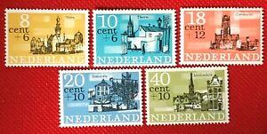 ZAYIX - 1969 Netherlands B397-B401 MNH - semi-postal - town views / architecture
