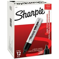 Sharpie King-Size Permanent Markers, Black (SAN15001) 12 Each