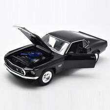 1969 Ford Mustang Boss 429 1/24 Model Car Diecast Vehicle Collectable Gift Black