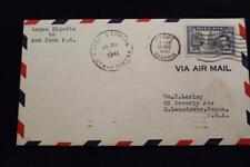 1ST FLIGHT 1941 PAN AMERICAN AIRWAYS FAM-22 LAGOS NIGERIA TO SAN JUAN P.R. (5302