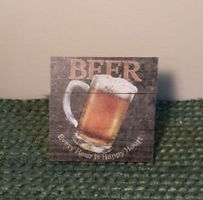 Beer, Every Hour is Happy Hour Self-Standing Crate Mini Sign, Drinking Gift