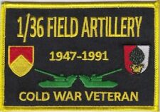 """1/36 Field Artillery Augsburg Germany 4"""" x 3""""  embroidered patch"""