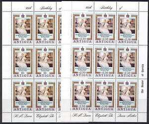 Antigua 584-5 Sheets MNH Queen  Mother 80th Birthday