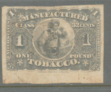 A66 - TOBACCO TAXPAID STAMP - SPRINGER TF6 1lb, Used With Punch Cancel