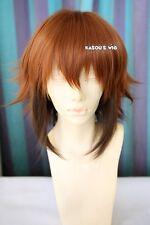 Yu-Gi-Oh! GX Jaden Yuki 40cm brown coffee ombre short  layers cosplay wig