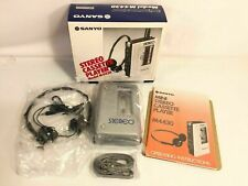 Sanyo Mini Stereo Cassette Player Vintage Model M4430 Made In Japan NEW IN BOX