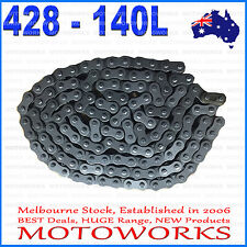 428 - 140 Links Chain + Joiner Link ATV QUAD Bike Gokart Buggy Dirt Pit trail